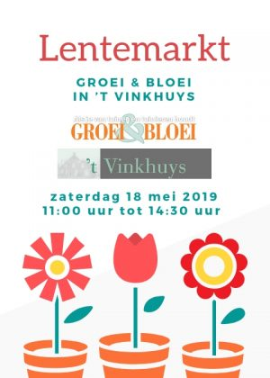 Flyer Groei & Bloei Lentemarkt 2019 voorkant