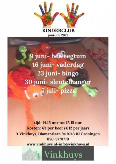 Programma Kinderclub juni-juli 2021